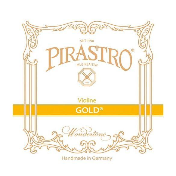 Pirastro Gold hegedű bélhúr E  BALL STEEL MITTEL ENVELOPE