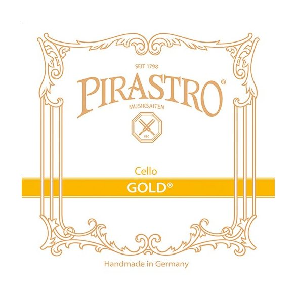 Pirastro Gold cselló bélhúr C  GUT/SILVER MITTEL