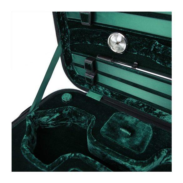 GEWA hegedű koffertok Liuteria Maestro 4/4 fekete, zöld belsővel
