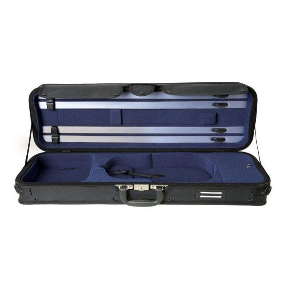 GEWA Strato szuper könnyű hegedű koffertok fekete, kék belsővel 4/4
