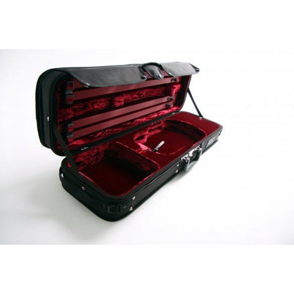 GEWA Strato De Luxe hegedű koffertok 4/4 fekete, bordó belsővel