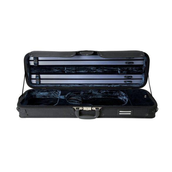 GEWA Strato De Luxe hegedű koffertok 4/4 fekete, kék belsővel