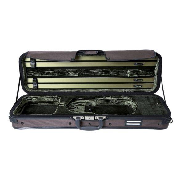 GEWA Strato De Luxe hegedű koffertok 4/4 barna, zöld belsővel