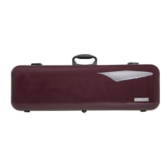 GEWA hegedű koffertok Air 2.1 4/4 magasfényű padlizsánlila, fogantyúval