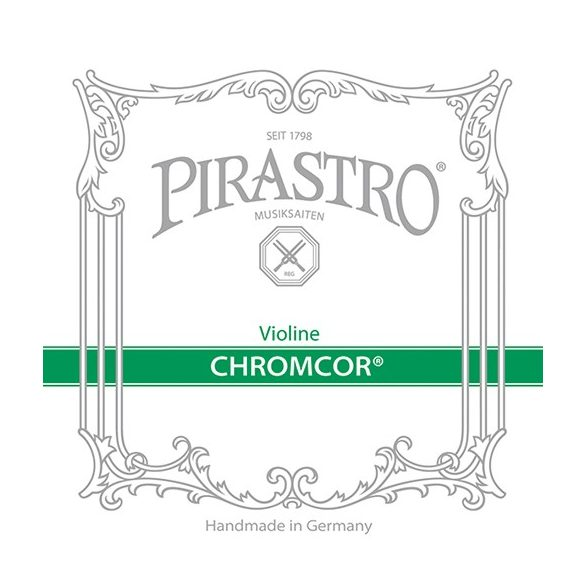 Pirastro Chromcore fém hegedű húr SET 3/4-1/2 E-BALL MITTEL ENVELOPE