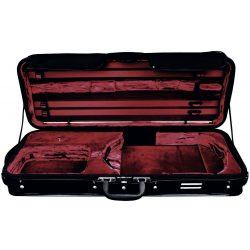 GEWA brácsa koffertok Strato de Luxe 36-42,5 cm fekete, bordó belsővel