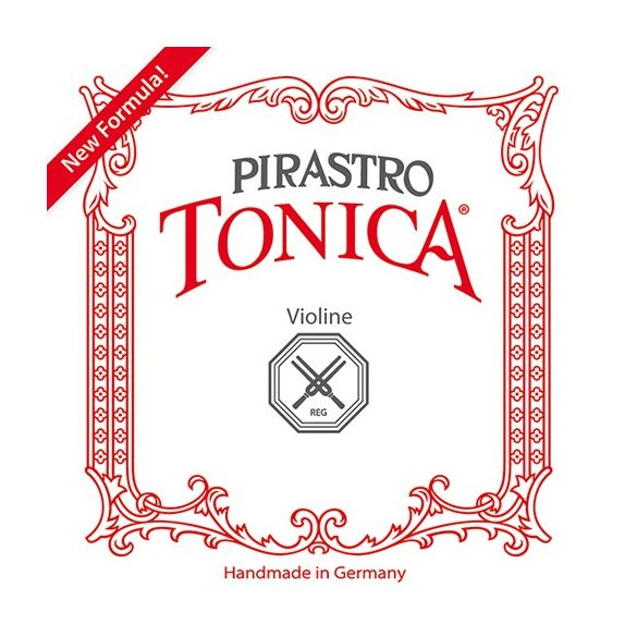 Pirastro Tonica szintetikus hegedűhúr E  BALL SILVERY STEEL MITTEL ENVELOPE