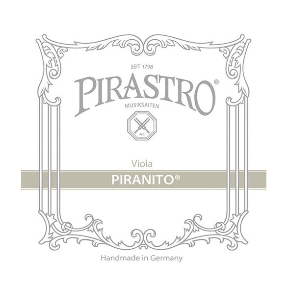 Pirastro Piranito fém brácsa húr A  STEEL/CHROME STEEL REMOVABLE BALL END MITTEL ENVELOPE