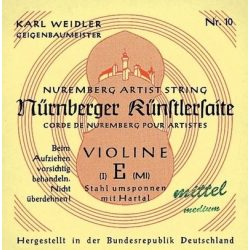 Nürnberger Künstler fém hegedűhúr acél, fonott, E 4/4