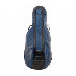 Petz cello bag, blue 18mm foam padding, 4/4