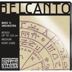 Thomastik Belcanto Orchestra ¾ steel double bass string SET