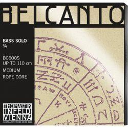 Thomastik BELCANTO Solo ¾ steel double bass string SET