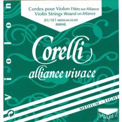 Corelli Alliance Vivace fém hegedűhúr E gombos puha