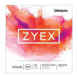 D'Addario Zyex szintetikus hegedű húr  SET-aluminium D, medium,