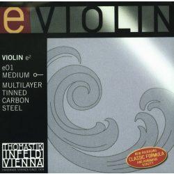Thomastik e01 fém hegedűhúr E carbon steel multilayer tinned medium