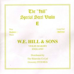 Hill Special E violin string, soft, loop end