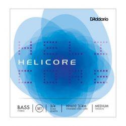 D'Addario Helicore Hybrid fém nagybőgő húr Set medium