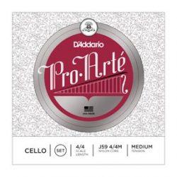 D'Addario Pro Arte cello synthetic string Set