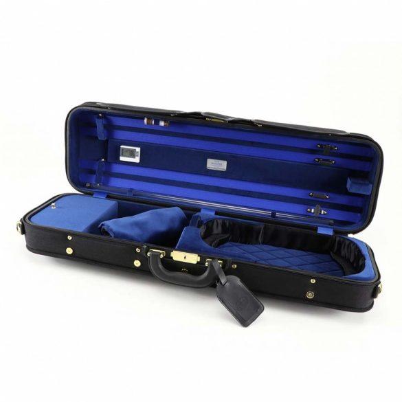 Winter exkluzív kézzel készült fa hegedűtok fekete/kék