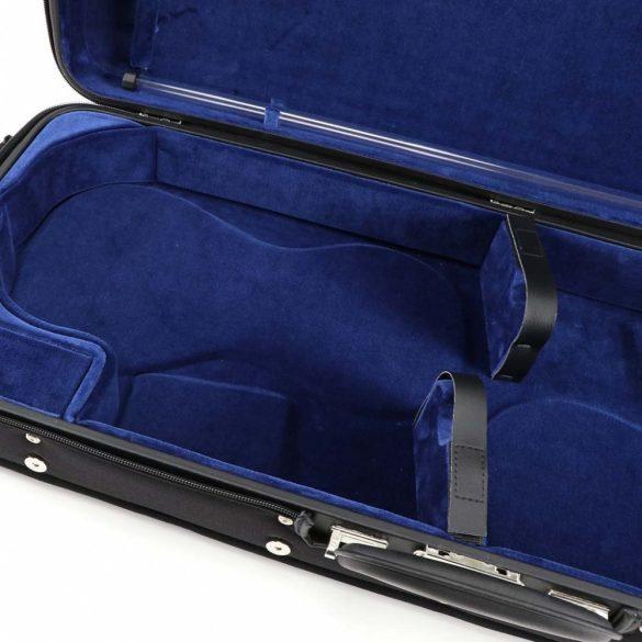 Winter fából készült tok 2 db hegedű számára feket/kék