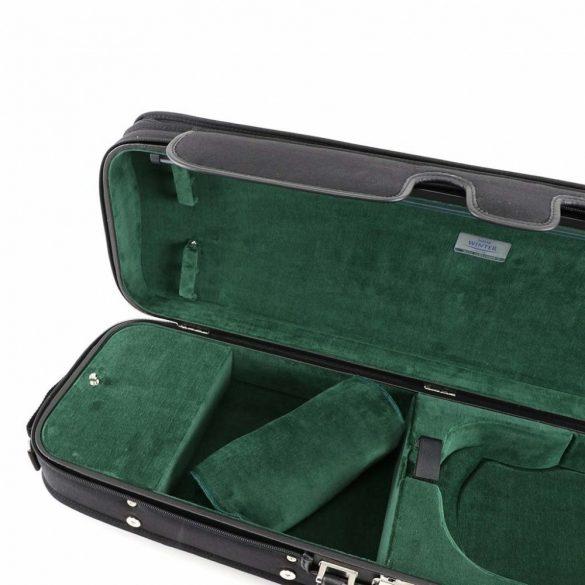 Winter kézzel készült fa hegedűtok fekete/zöld