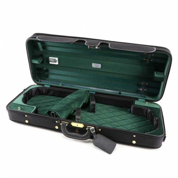 Winter exkluzív fa hegedűtok 2 hegedű számára fekete/zöld