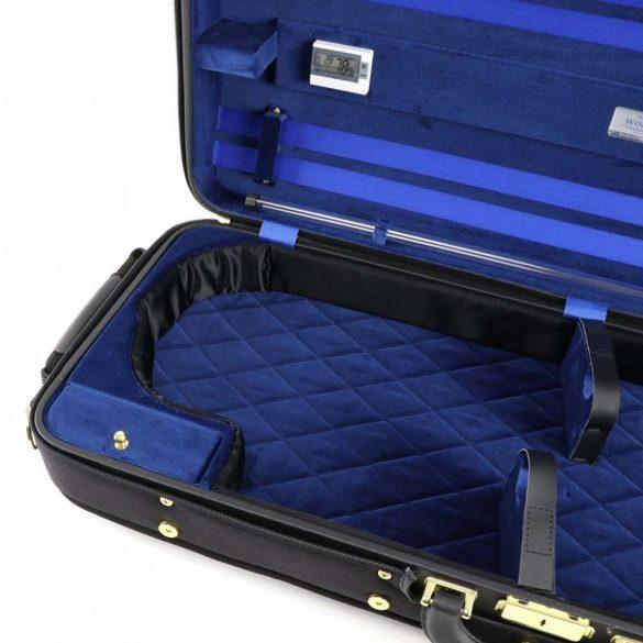 Winter exkluzív fa hegedűtok 2 hegedű számára fekete/kék