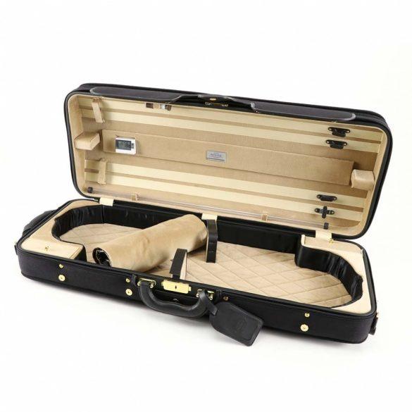 Winter exkluzív fa hegedűtok 2 hegedű számára fekete/bézs