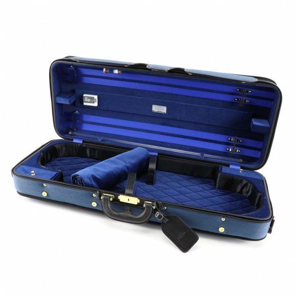 Winter exkluzív fa hegedűtok 2 hegedű számára kék/kék