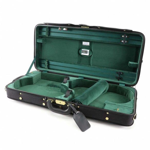 Winter hegedű és brácsa koffertok Vario, fekete-zöld