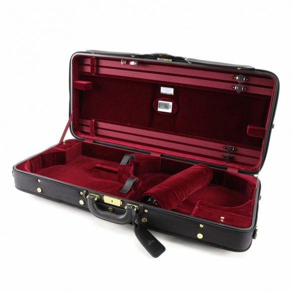 Winter hegedű és brácsa fa koffertok Vario, fekete-bordó
