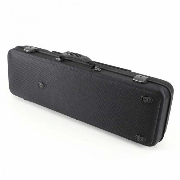 Winter hegedű koffertok, Green Line, kottatartó zsebbel, 4/4 - 3/4 fekete/ fekete kottazseb