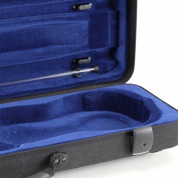 Winter hegedű koffertok, Green Line, kottatartó zsebbel, 4/4 - 3/4 szürke/fekete kottazseb