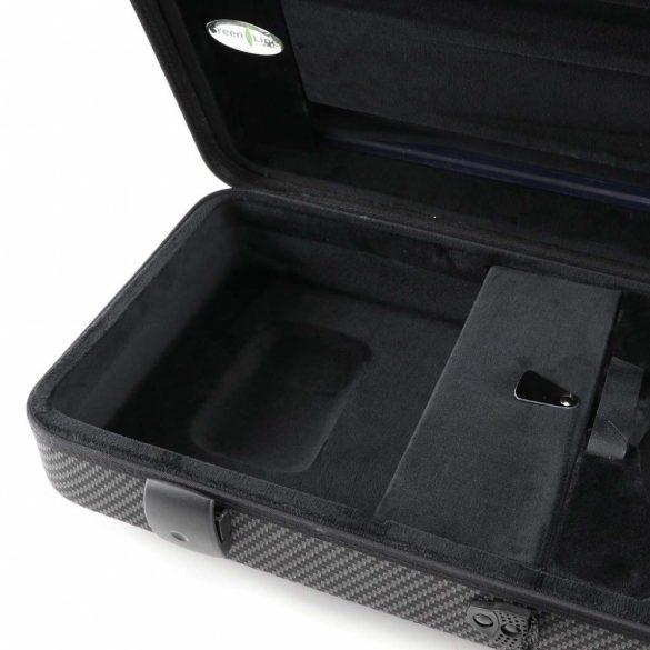 Winter brácsa koffertok Green Line, Carbon design, 2,35 kg, 15'-16,5' - 38-40,5 CM