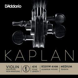 D'Addario Kaplan Solutions fém hegedű húr E, medium, stranded steel, aluminum