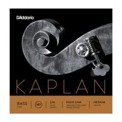 D'Addario Kaplan Solo fém nagybőgő húr Set medium