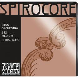 Thomastik SPIROCORE Orchestra 4⁄4 steel double bass string SET medium