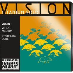 Thomastik Vision Titanium Solo szintetikus hegedűhúr SET